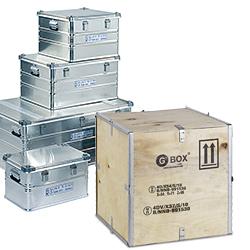 GBOX 4B / 4BV Aluminiumkiste und 4D / 4DV Sperrholzkiste. Gefahrgutverpackungen / Industrieverpackungen von ALEX BREUER online kaufen. Beratung von den Gefahrgutexperten