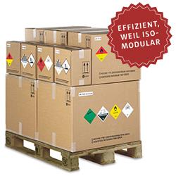 GBOX 4G Gefahrgutverpackungen passend zur Euro-Palette. Gefahrgutkartons effizient transportieren. ISO-MODULAR