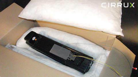 CIRRUX Polstermaterial für den Versand von Lithiumbatterien in Gefahrgutkartons. Brandtest Foto 09 – Gefahrgutbeauftragten.