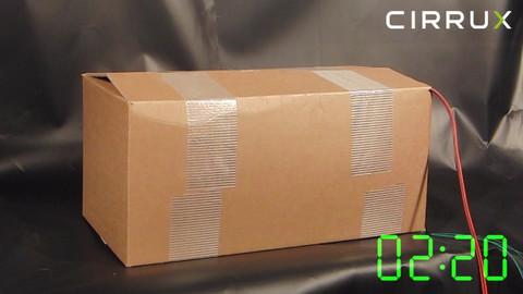 CIRRUX Polstermaterial für den Versand von Lithiumbatterien in Gefahrgutkartons. Brandtest Foto 08 – Gefahrgutbeauftragter.