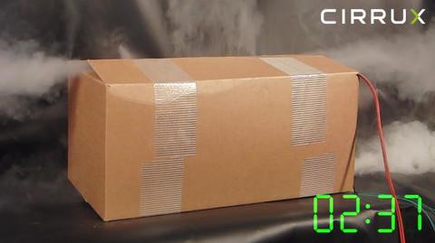 CIRRUX Polstermaterial für den Versand von Lithiumbatterien in Gefahrgutkartons. Brandtest Foto 07 – Gefahrgutbeauftragter.