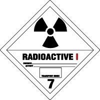 Gefahrgutetiketten / Gefahrgutaufkleber RADIOAKTIVITÄT RADIOACTIVE. Gefahrgutklasse 7I. Für Kennzeichnung von Gefahrgutverpackungen > ALEX BREUER Onlineshop