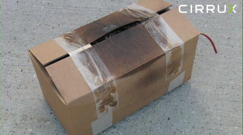 CIRRUX Polstermaterial für den Versand von Lithiumbatterien in Gefahrgutkartons. Brandtest Foto 03 – Gefahrgutbeauftragter.