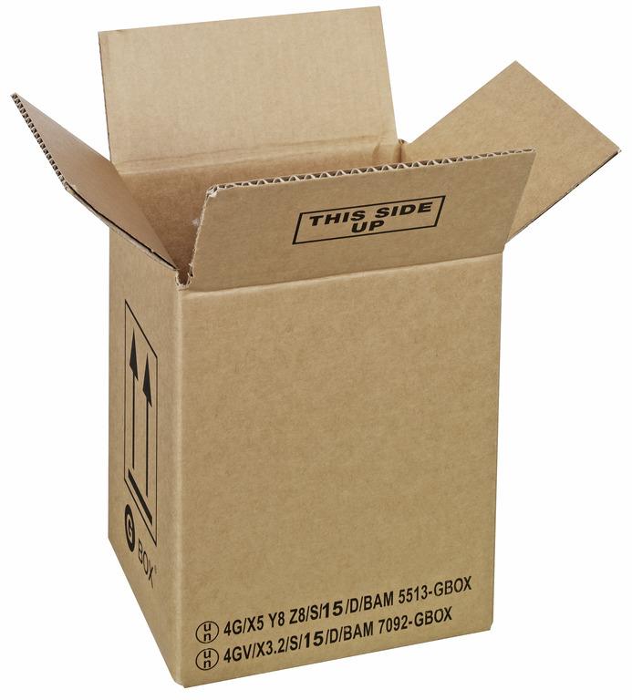 GBOX Standard 4G Gefahrgutkarton 91751. UN Gefahrgutverpackungen / Industrieverpackungen von ALEX BREUER im Onlineshop kaufen