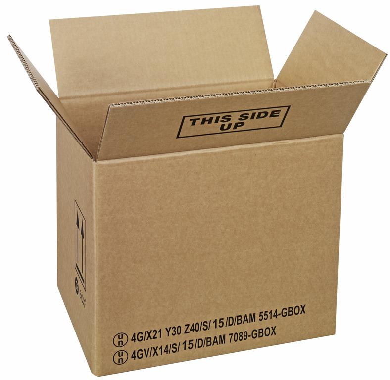 GBOX Standard UN Gefahrgutkarton 93602. Gefahrgutverpackungen / Industrieverpackungen von ALEX BREUER im Onlineshop kaufen