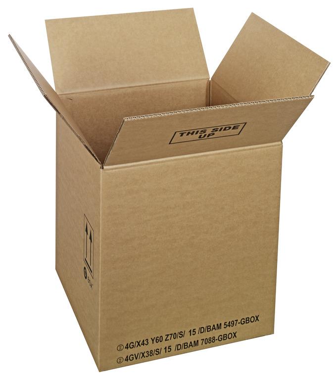 GBOX Standard Gefahrgutkartons 93903. UN-Gefahrgutverpackungen 390 x 390 x 430 mm von ALEX BREUER im Onlineshop