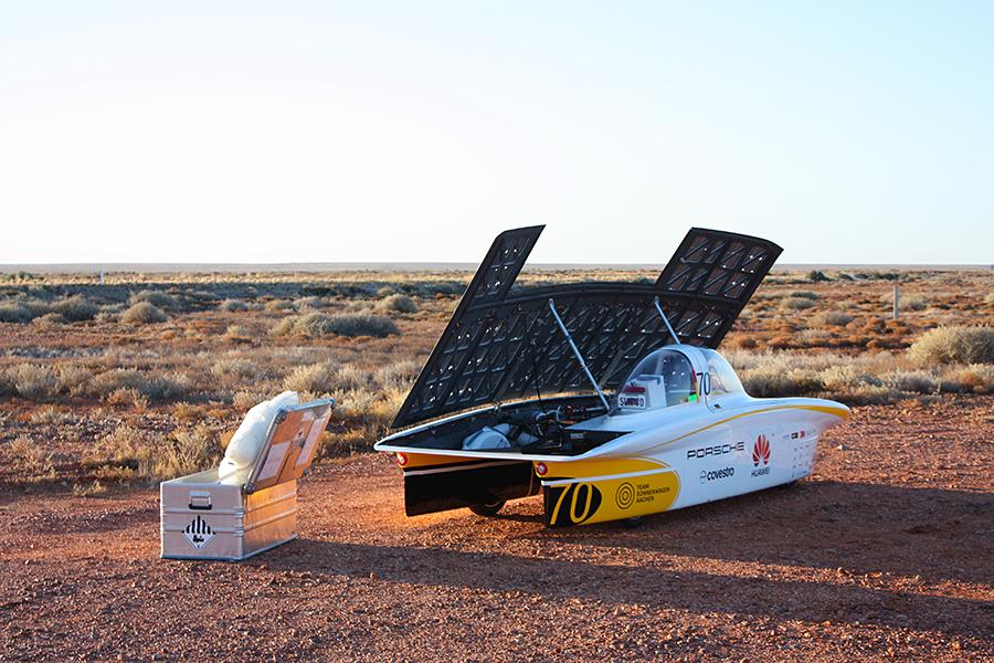 Alubox Gefahrgutverpackung für Transport Lithiumbatterien – Sponsor Projekt Sonnenwagen RWTH Aachen bei World Solar Challenge