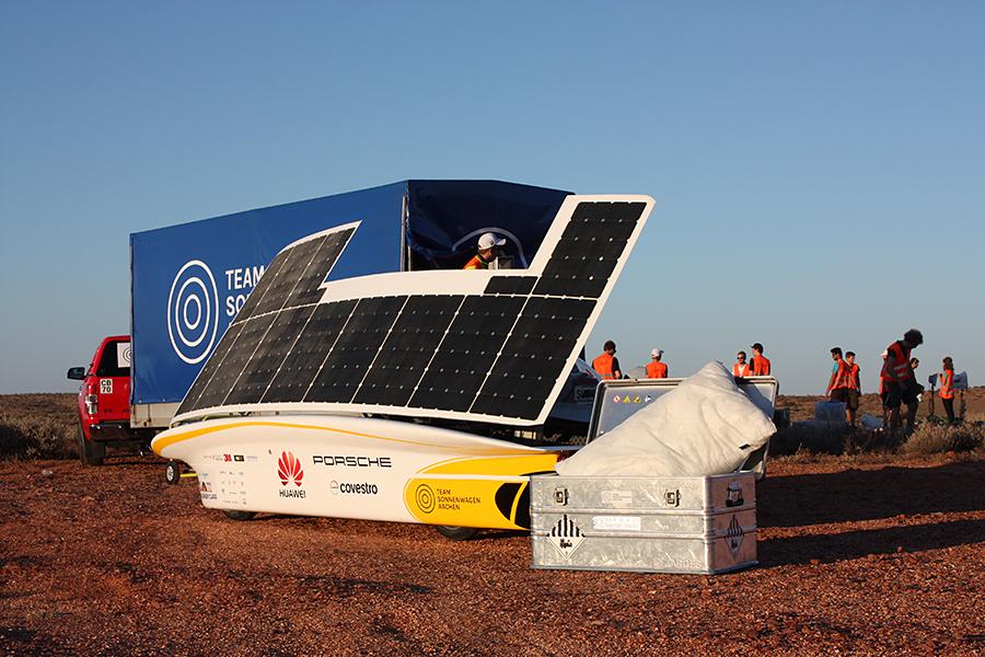 ALEX BREUER Gefahrgutverpackung Alubox / Lithiumbatterien – Sponsor Projekt Sonnenwagen RWTH Aachen bei Bridgestone World Solar Challenge