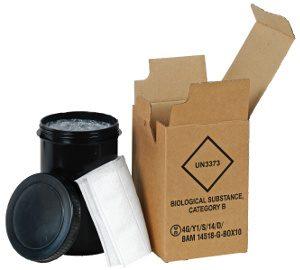 GBOX UN 3373. Gefahrgutkarton für den Probentransport pharmazeutischer / gefährlicher Stoffe Gefahrgutklasse 6.2 - Gefahrgutverpackungen / Industrieverpackungen im ALEX BREUER Onlineshop