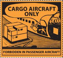 Gefahrgutetiketten / Gefahrgutaufkleber CARGO AIRCRAFT ONLY. Für Kennzeichnung von Gefahrgutverpackungen > ALEX BREUER Onlineshop