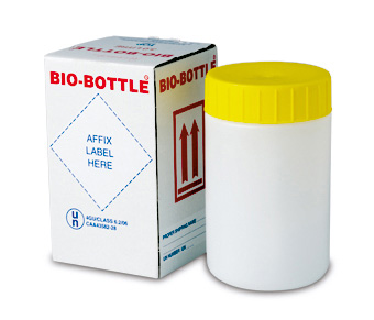 GBOX Bio-Bottle für den Versand bei Gefahrgutklasse 6.2 - UN Gefahrgutverpackungen / Industrieverpackungen von ALEX BREUER im Onlineshop