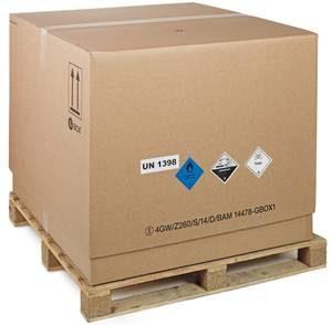 UN 1398 GBOX 4GW Gefahrgutkartons mit Gefahrgutetiketten. Gefahrgutverpackungen / Industrieverpackungen von ALEX BREUER im Onlineshop
