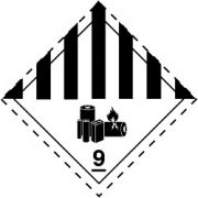 Gefahrgutetiketten / Gefahrgutaufkleber LITHIUMBATTERIEN Gefahrgutklasse 9. Für Kennzeichnung von Gefahrgutverpackungen > ALEX BREUER Onlineshop