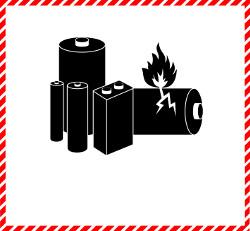 Gefahrgutetiketten / Gefahrgutzettel LITHIUMBATTERIEN Gefahrgutklasse 9. Für Kennzeichnung von Gefahrgutverpackungen > ALEX BREUER Onlineshop