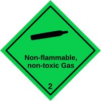 Gefahrgutetiketten / Gefahrgutaufkleber NON FLAMMABLE NON TOXIS GAS Gefahrgutklasse 2. Für Kennzeichnung von GBOX Gefahrgutverpackungen > ALEX BREUER Onlineshop