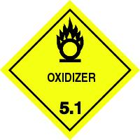 Gefahrgutetiketten / Gefahrgutaufkleber OXIDIZER Gefahrgutklasse 5.1. Für Kennzeichnung von GBOX Gefahrgutverpackungen > ALEX BREUER Onlineshop