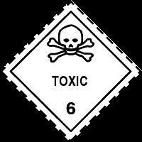 Gefahrgutetiketten / Gefahrgutaufkleber TOXIC Gefahrgutklasse 6. Für Kennzeichnung von GBOX Gefahrgutverpackungen > ALEX BREUER Onlineshop
