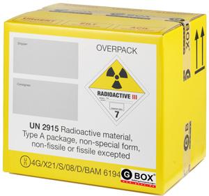 GBOX Spezial 4G Gefahrgutkarton 08 für radioaktives Material. Gefahrgutverpackungen / Industrieverpackungen Gefahrgutklasse 7 von ALEX BREUER im Onlineshop kaufen