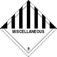 Gefahrgutetiketten / Gefahrgutaufkleber für Gefahrgutklasse 9. Für Kennzeichnung von GBOX Gefahrgutverpackungen > ALEX BREUER Onlineshop