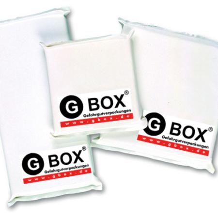 GBOX Kühlelemente. Flexibel. Formfest. Größen 120 x120, 200 x 200, 250 x 250. Zubehör für Gefahrgutverpackungen. Sehr hilfreich bei z.B. THERMO GBOX 650 Gefahrgutkartons / Isolierverpackung für den Versand gefährlicher Stoffe Gefahrgutklasse 6.2