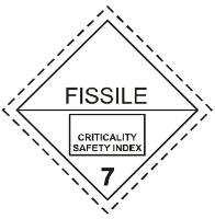 Gefahrgutetiketten / Gefahrgutaufkleber FISSILE. Für Kennzeichnung von Gefahrgutverpackungen > ALEX BREUER Onlineshop