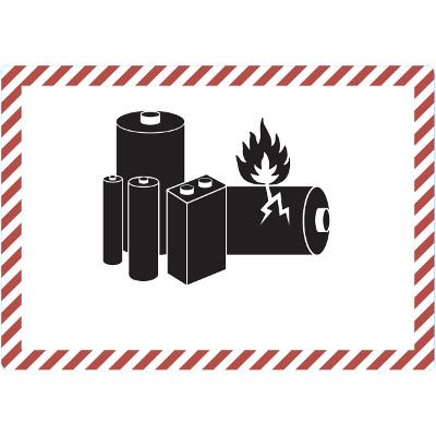 SV 188 Gefahrgutetiketten / Gefahrgutaufkleber Versand LITHIUMBATTERIEN. Für Kennzeichnung von Gefahrgutverpackungen > ALEX BREUER Onlineshop