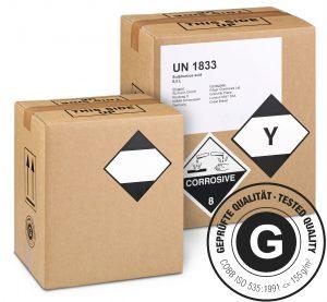 GBOX LQ Gefahrgutkarton – Geprüfte Gefahrgutverpackungen / Industrieverpackungen mit Gefahrgutetiketten. Jetzt im Onlineshop kaufen